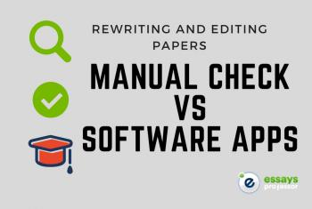 Editing and Rewriting Papers: Manual Check vs. Software Apps