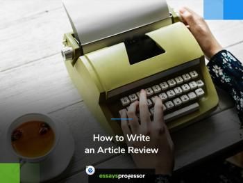 How to Write an Article Review Writing Tips