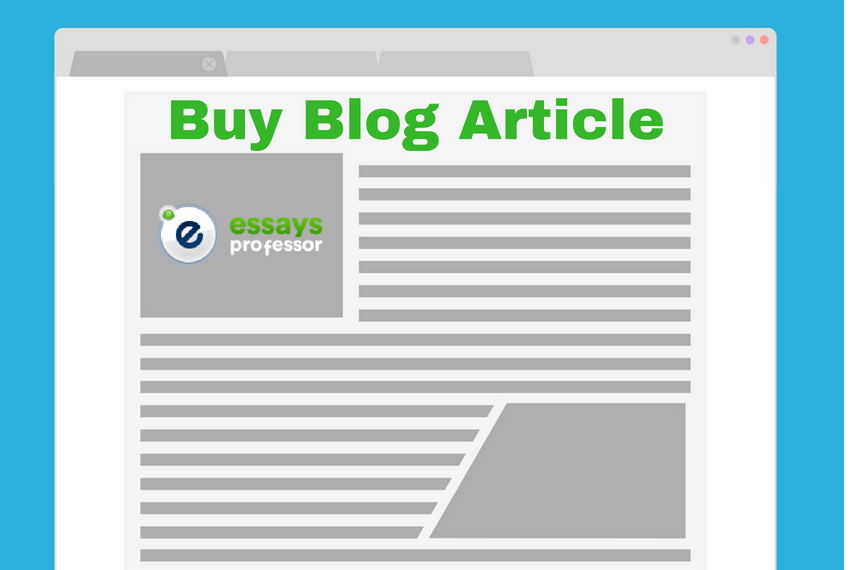 Buy Custom Blog Article