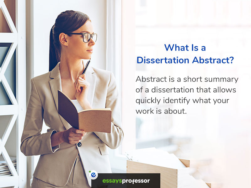 Define abstract dissertation